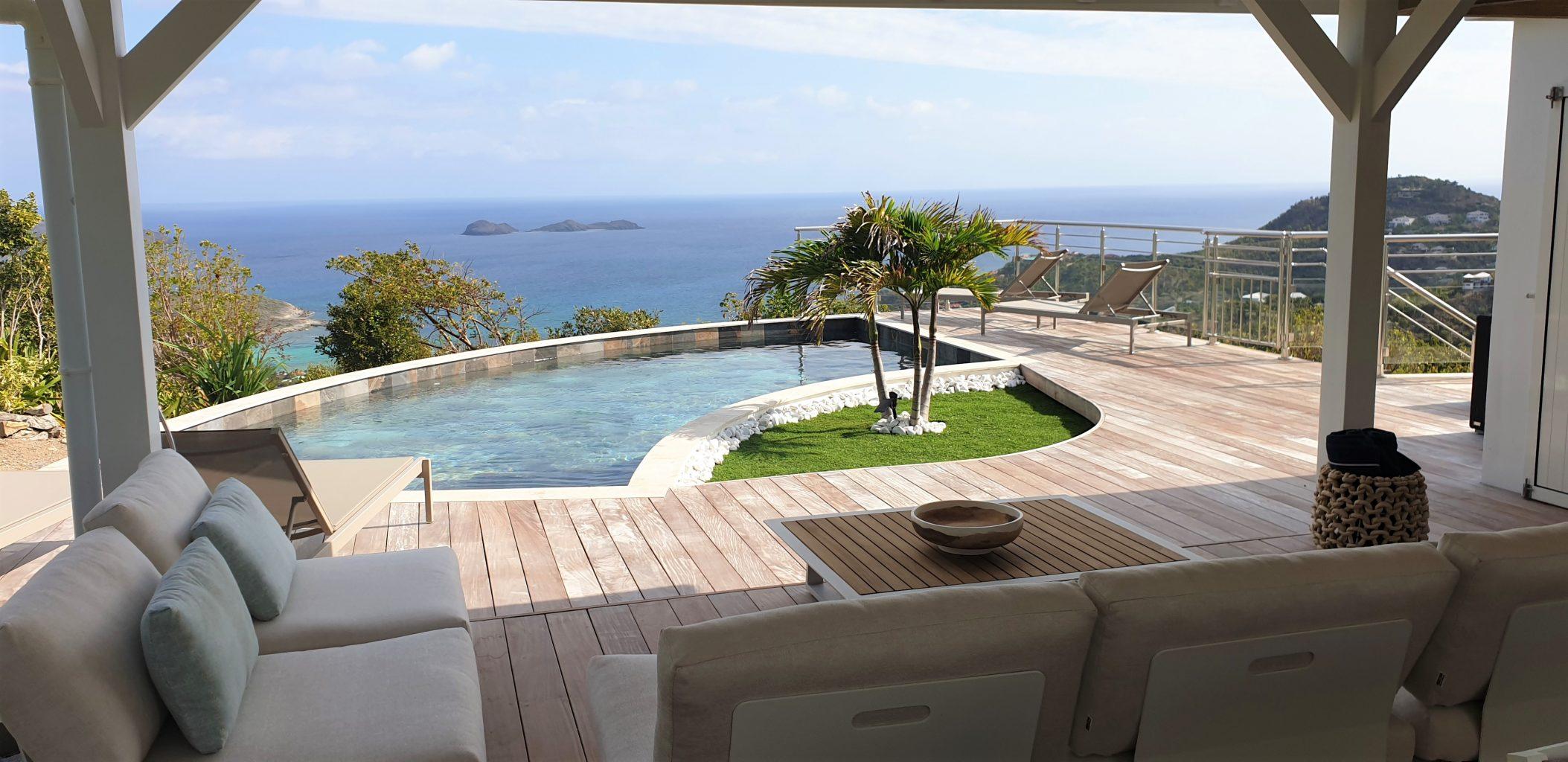 Villa Marris - Modern Villa Rent St Barth Lurin Sea view - Swimming pool and sea view