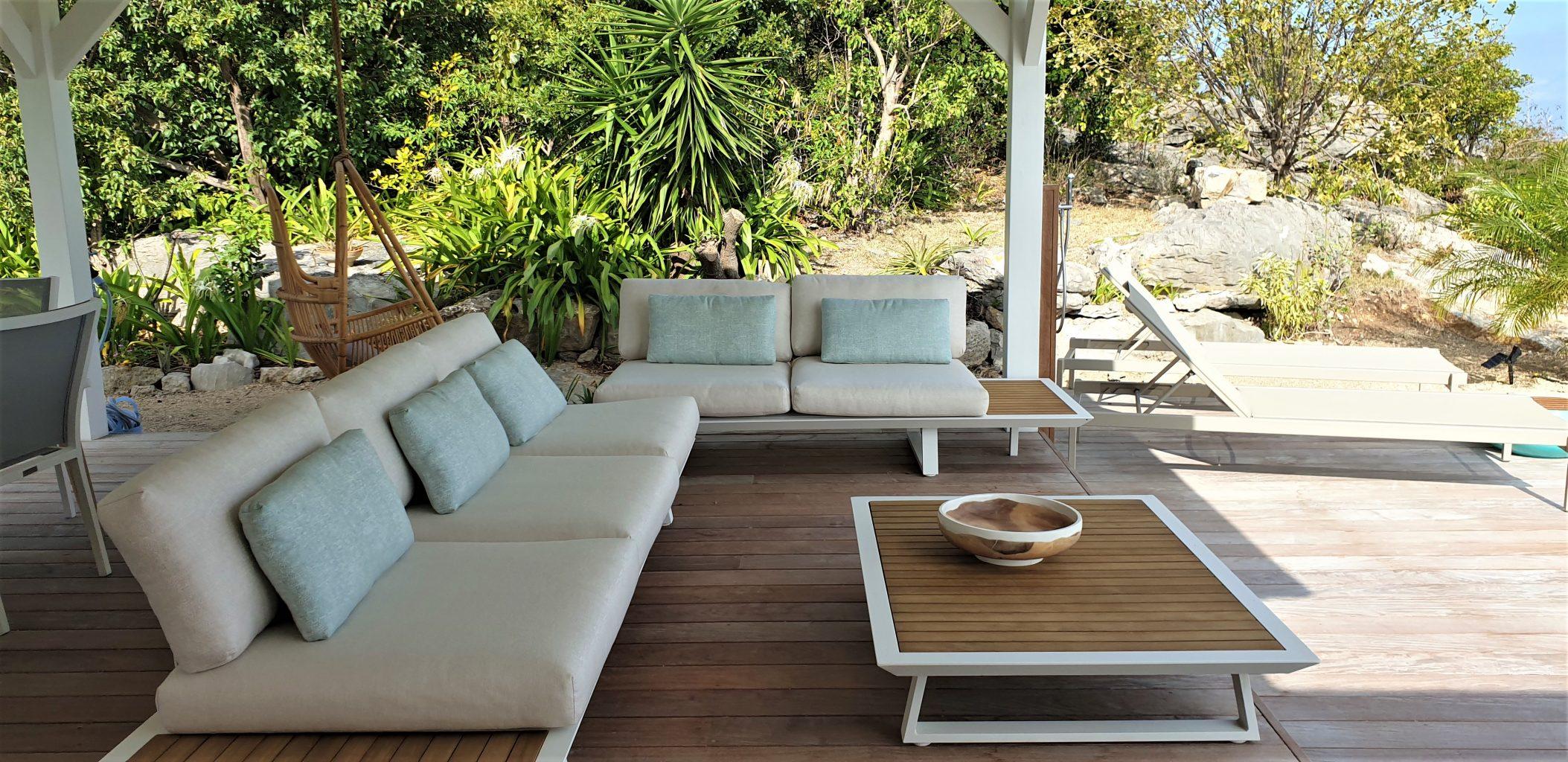 Villa Marris - Modern Villa Rent St Barth Lurin - Outside sitting area