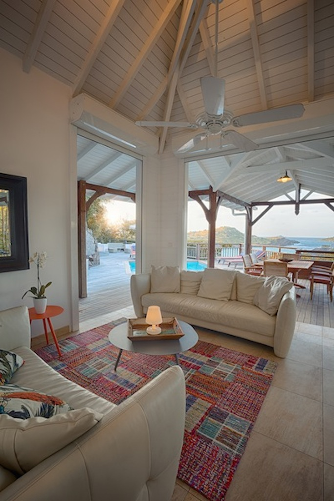 Villa Petit Lagon - Privacy Villa for Rent St Barth with Access to the Beach and Tennis Court - Living room