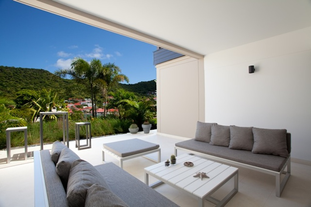 Apartment Camille - Modern Apartment Rental in Gustavia St Barth Perfect for Honeymooners - Patio
