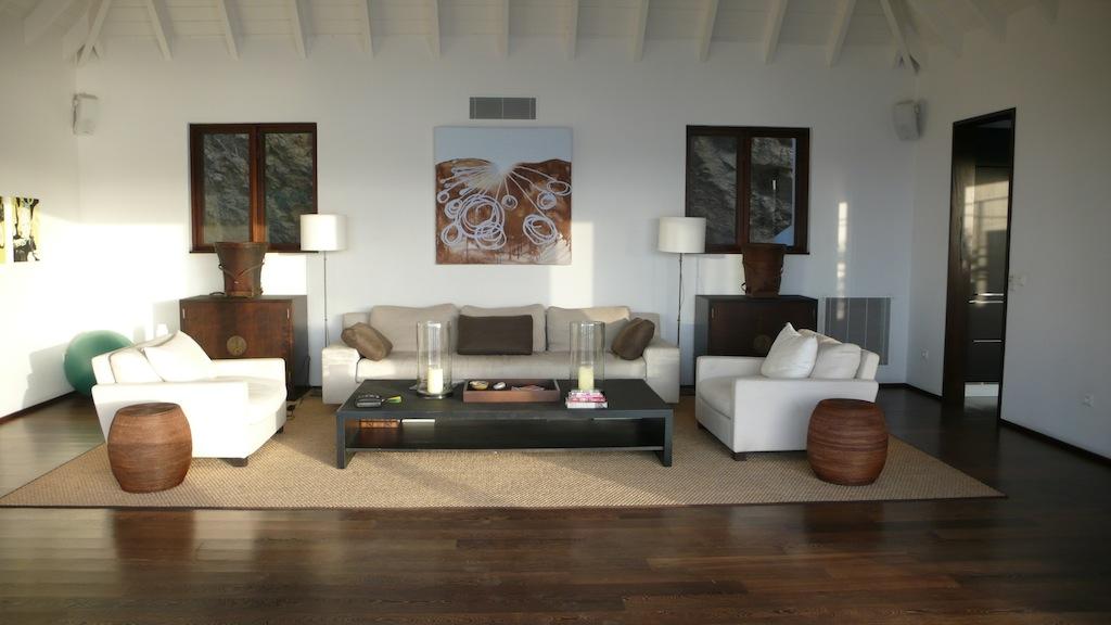 Villa Ella - Modern Villa Rental St Barth Located Few Minutes Away from Beaches, Restaurants and Shops - Living room