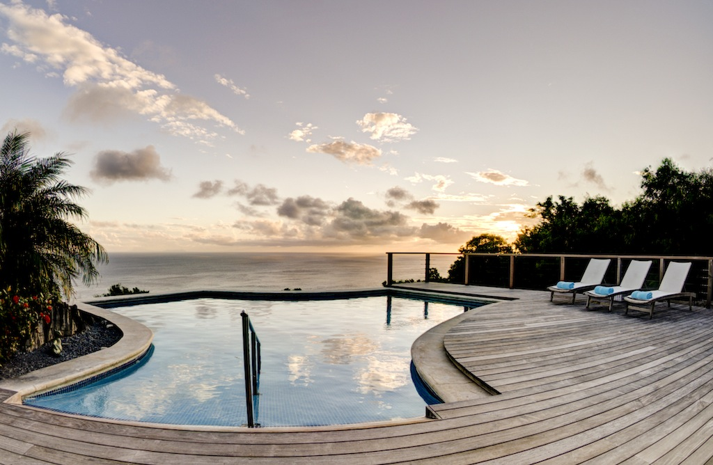 Villa Grand Large - Sunset Villa for Rent with BBQ St Barth Gouverneur - Pool