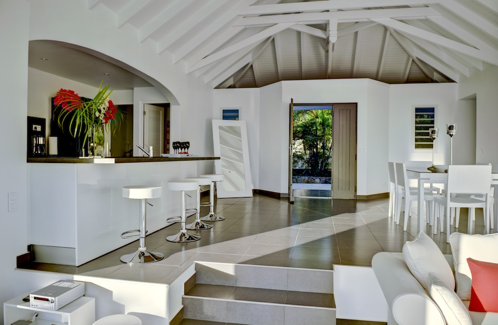 Villa Grand Large - Sunset Villa for Rent with BBQ St Barth Gouverneur - Main area
