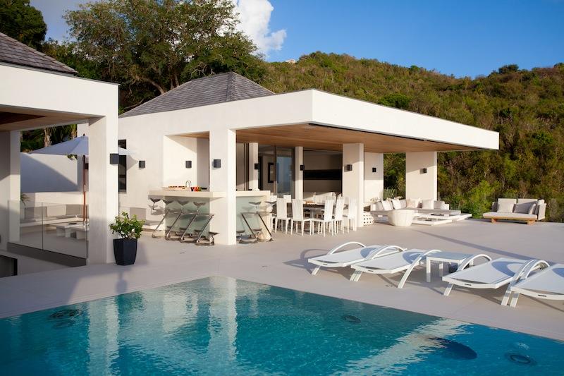 Villa Vitti - Beachfront Villa for Rent St Barth with BBQ - Outside View
