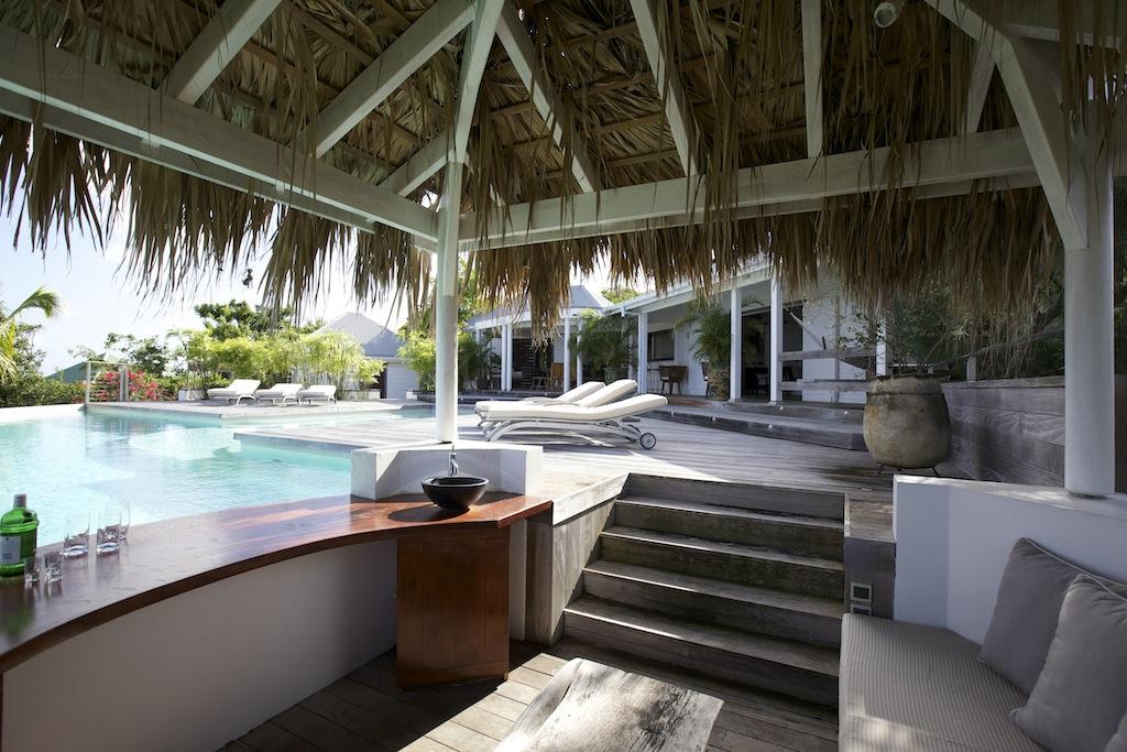 Villa Blue Swan - 4 Bedroom Villa for Rent St Barth Close to Gustavia - Patio