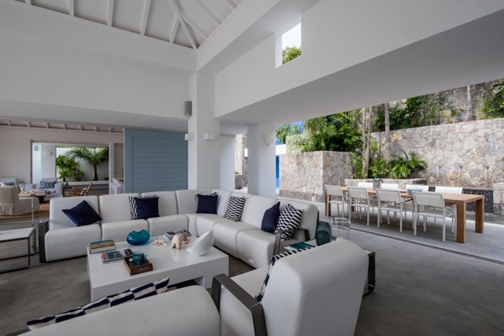 Villa Jasmine - Ultra Modern Villa Rental St Bart for a Group of Friends - Living Room