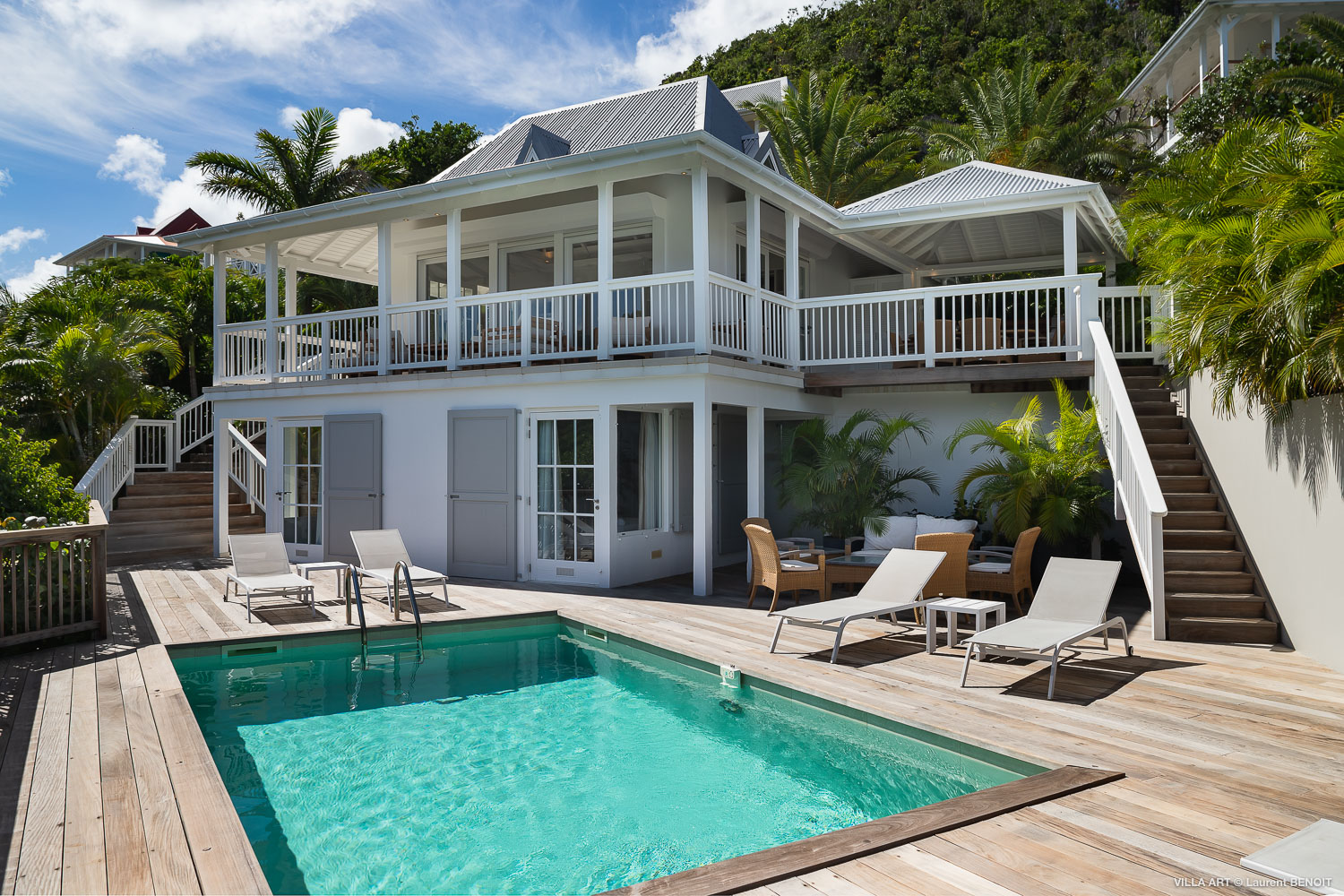 Villa Art - 3 Bedroom Villa for Rent in Flamands St Barth with Heated Pool - Outside view