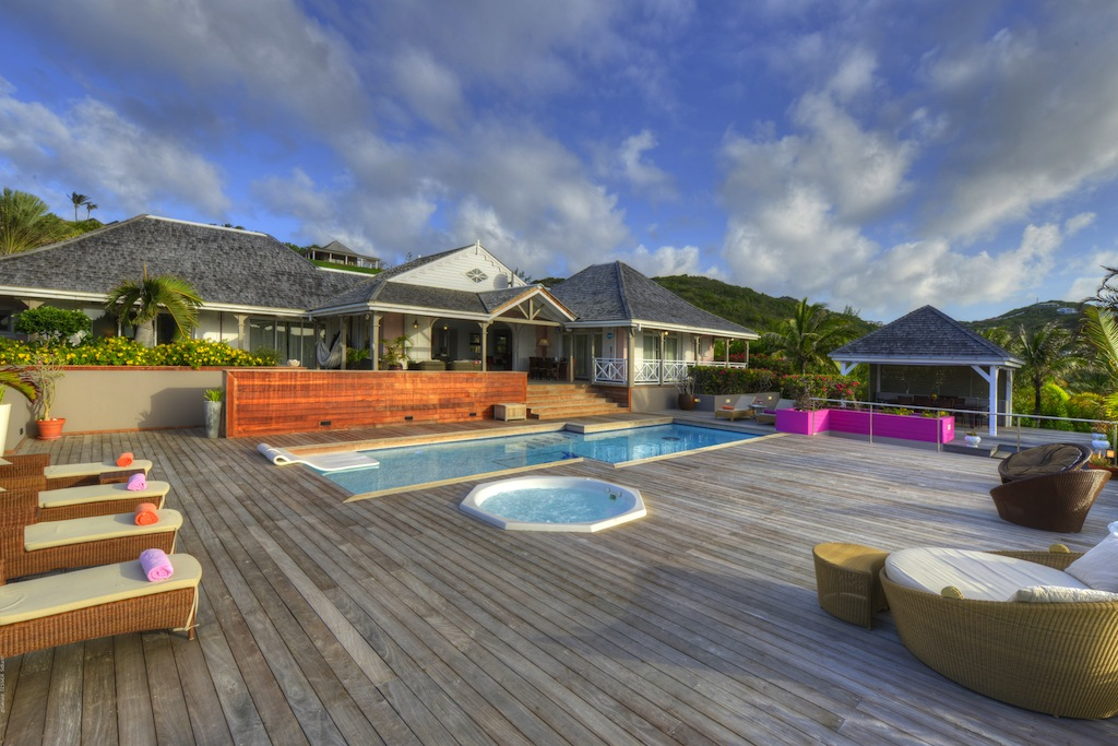 Villa La vie en Rose - Villa for Rent St Barth with Jacuzzi and Gym - Outside View