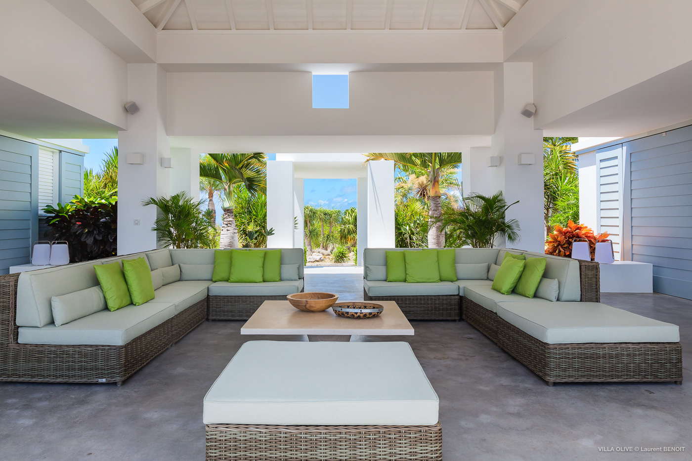 Villa Olive - Breezy Villa for Rent with Full Air Conditioning St Barth - Living Area