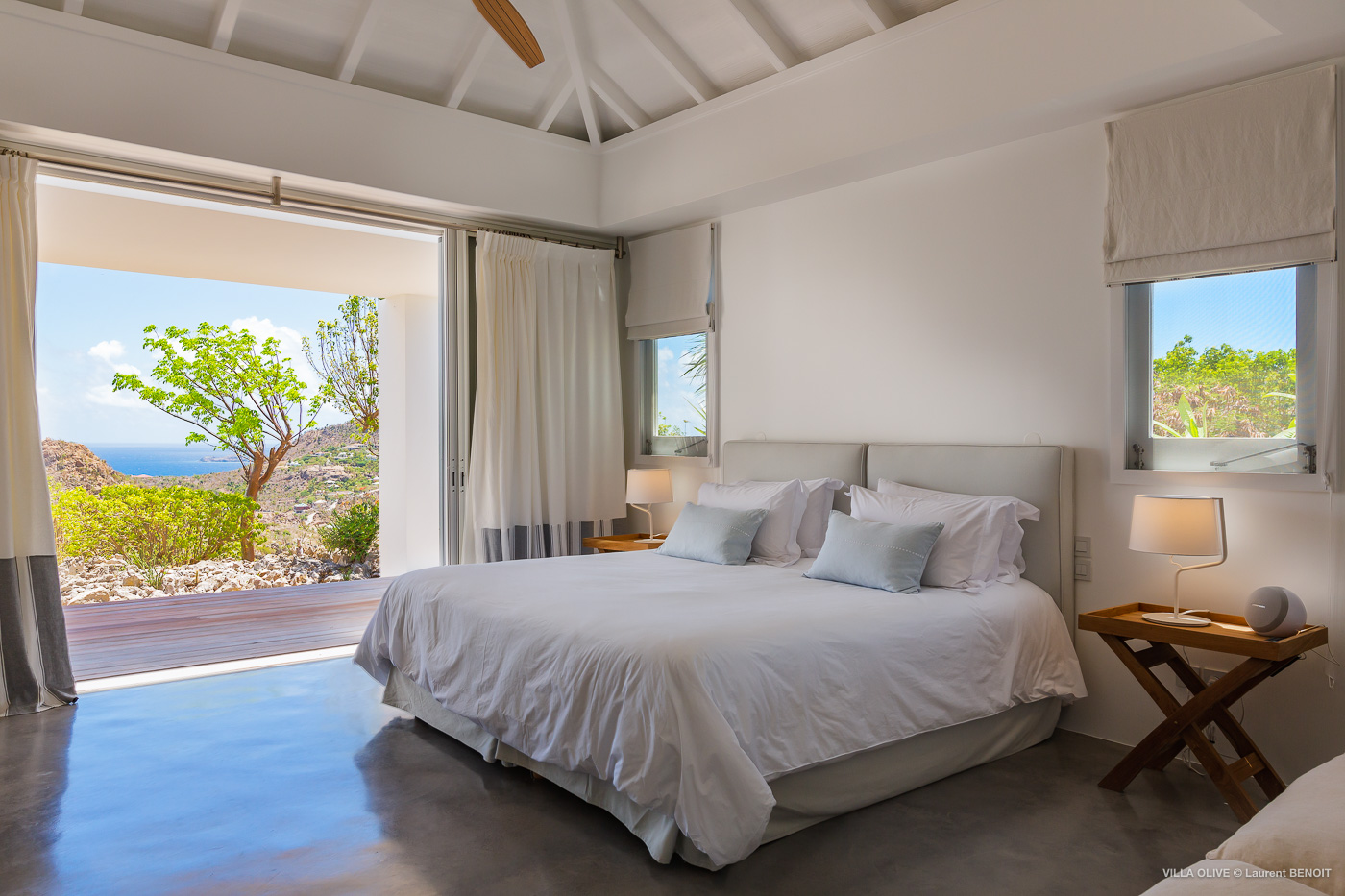 Villa Olive - Breezy Villa for Rent with Full Air Conditioning St Barth - Bedroom