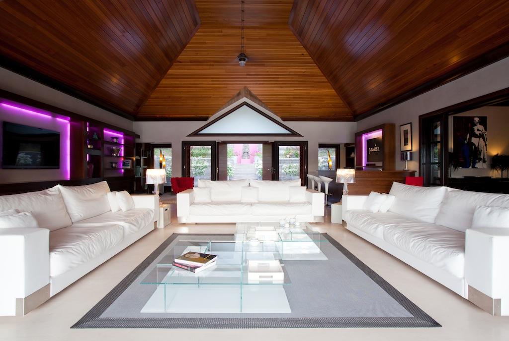 Villa Silver Rainbow - Modern Villa Rental St Barth with a Vast Garden - Living Room