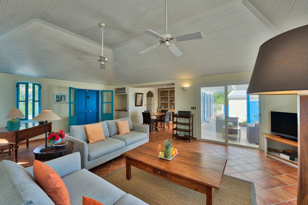 Villa Stivel - Comfortable Villa Rental St Barth with Privacy and Ocean View - Living room