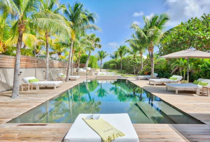 Villa K - Beachfront Villa for Rent St Barth Anse des Cayes Fully Equipped - Pool
