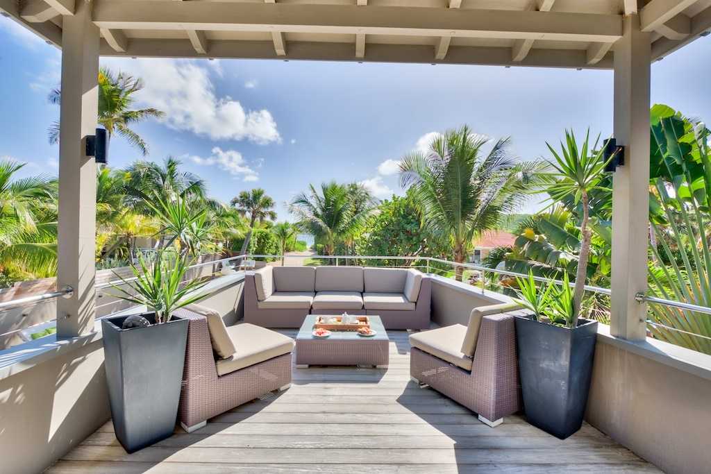 Villa K - Beachfront Villa for Rent St Barth Anse des Cayes Fully Equipped - Terrace
