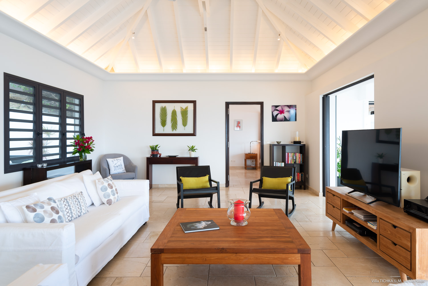 Villa Tichka - Oceanfront Villa for Rent St Barth Ideal for Two Couples - Main Area