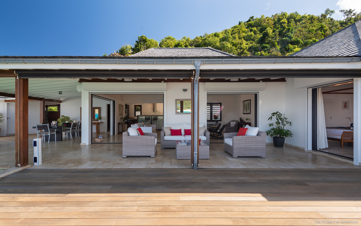 Villa Tichka - Oceanfront Villa for Rent St Barth Ideal for Two Couples - Outside view