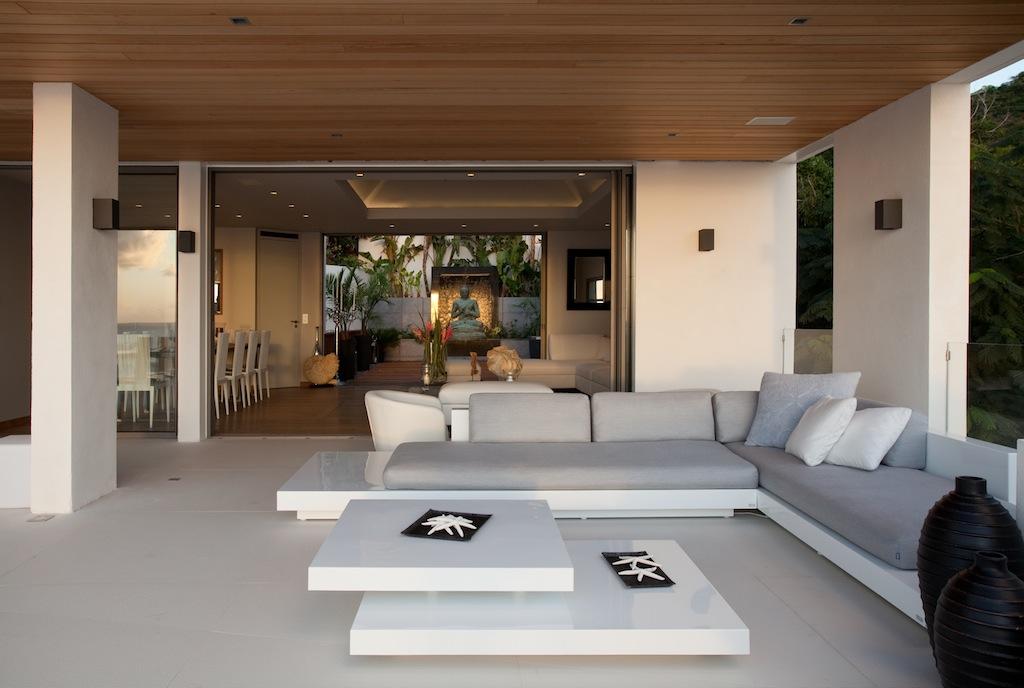 Villa Vitti - Beachfront Villa for Rent St Barth with BBQ - Main Area