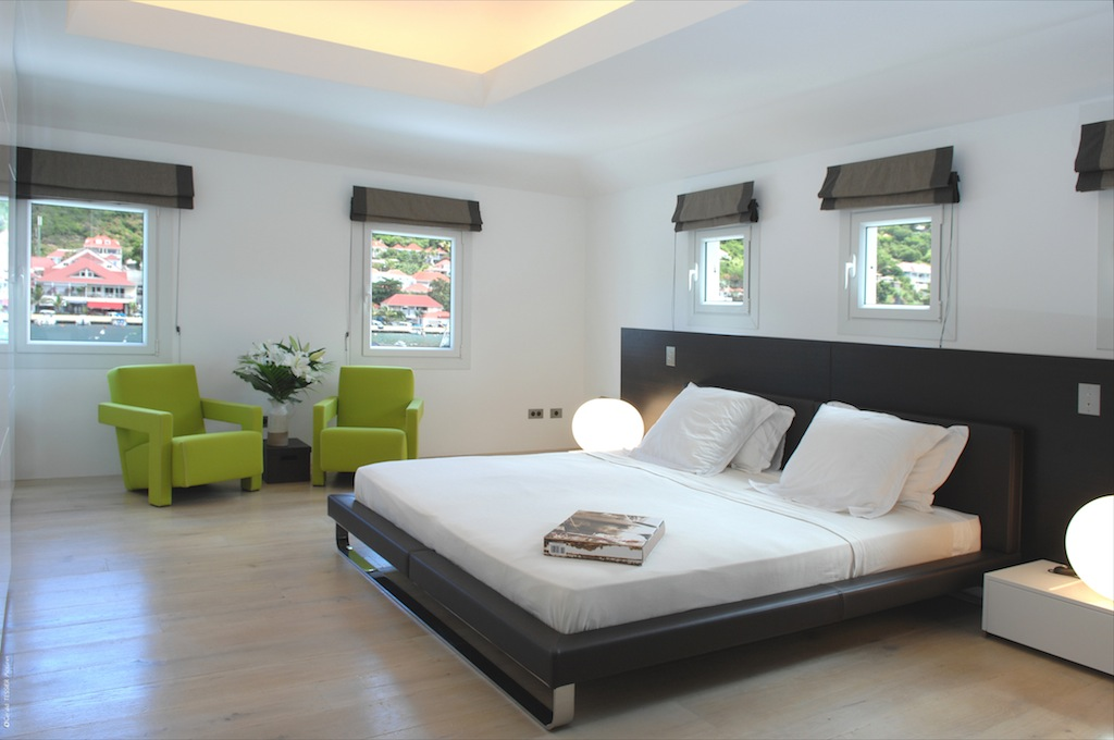 Apartment Harbour Loft - Modern Three Floors Apartment for Rent St Barth in the Center of Gustavia - Bedroom