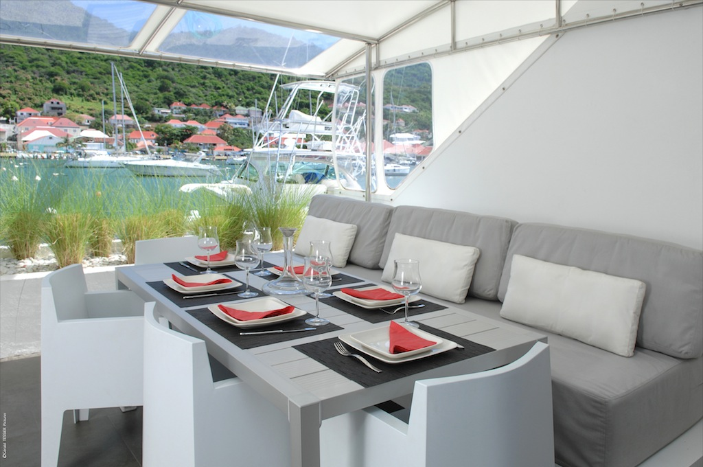 Apartment Harbour Loft - Modern Three Floors Apartment for Rent St Barth in the Center of Gustavia - Terrace