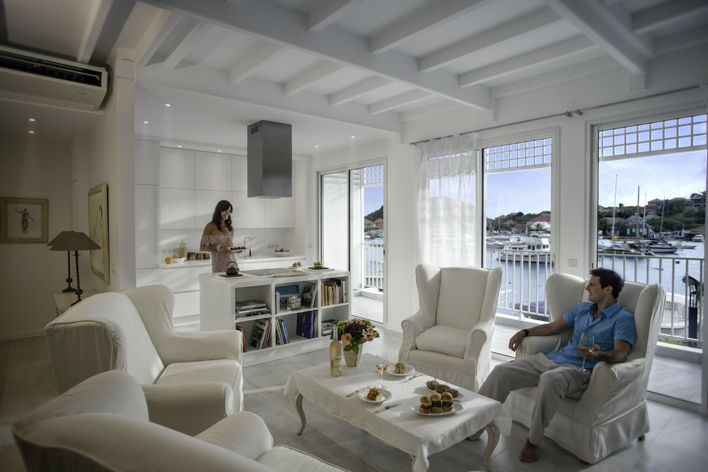 Apartment Suite Harbour - Modern and Antique Apartment for Rent St Barth Ideally Located Near Entertainment and Nightlife - Living room