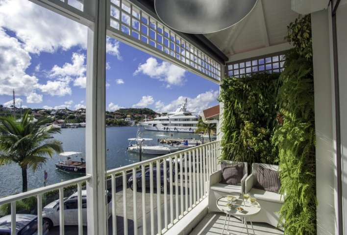 Apartment Suite Harbour - Modern and Antique Apartment for Rent St Barth Ideally Located Near Entertainment and Nightlife - Balcony