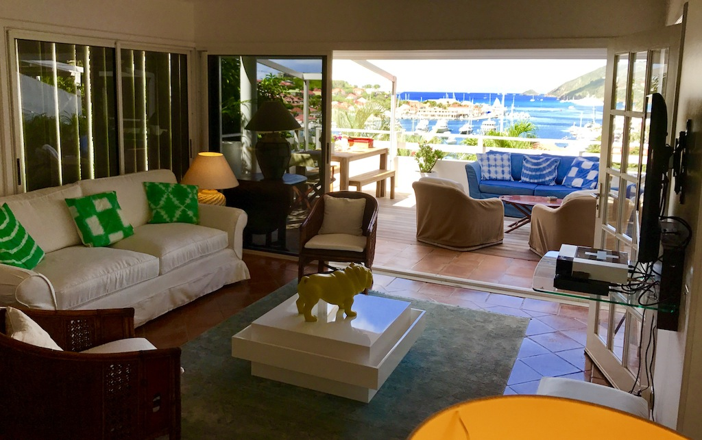 Apartment View Star - Apartment for Rent St Barth Located in Gustavia Perfect for a Couple - Living room