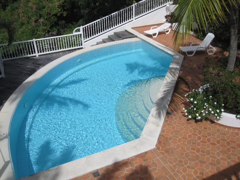 Apartment View Star - Apartment for Rent St Barth Located in Gustavia Perfect for a Couple - Common Pool