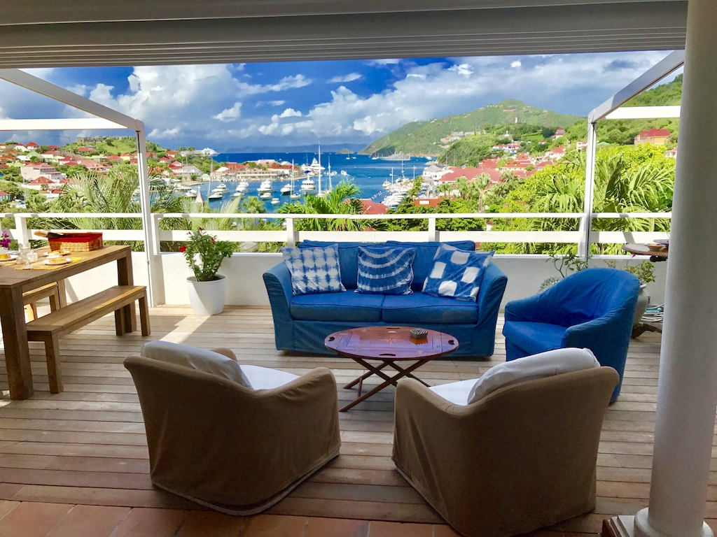 Apartment View Star - Apartment for Rent St Barth Located in Gustavia Perfect for a Couple - Terrace