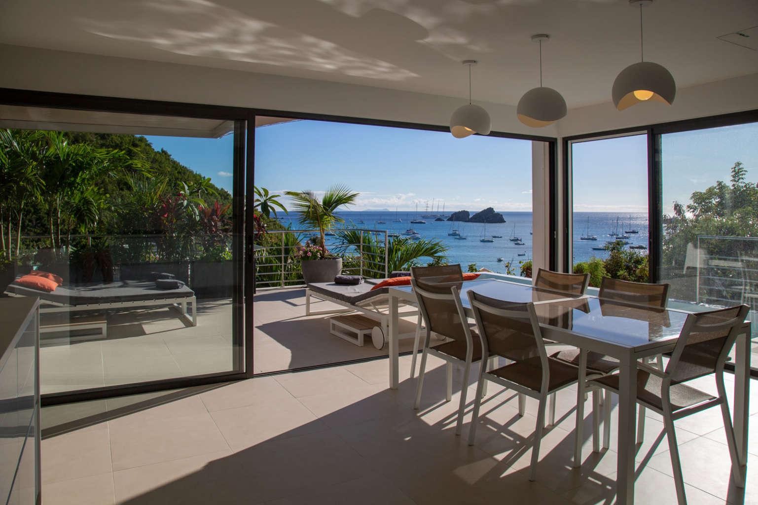 Villa Aka - 3 Bedroom Villa for Rent St Barth Corossol with an Amazing View - Patio