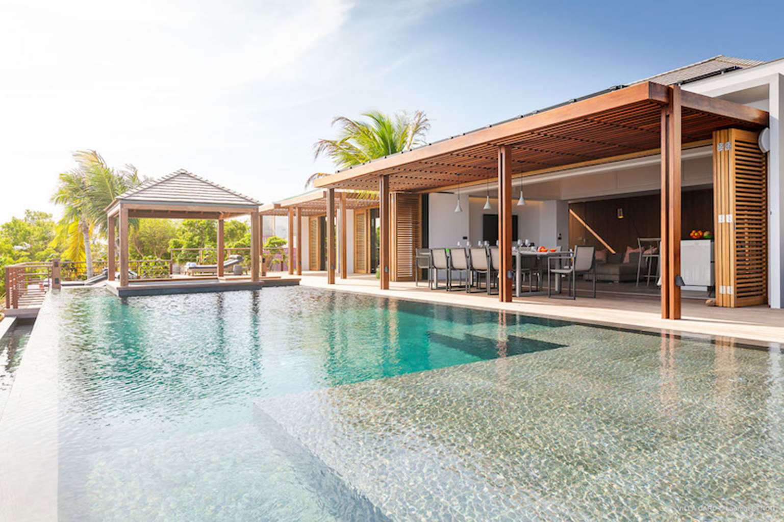 Villa Caro - Ultra Modern Villa Rental St Barth Gouverneur with large ocean view - Outside view
