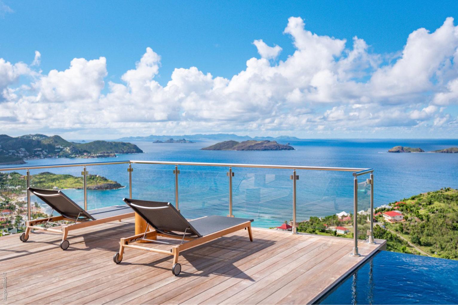 Villa Golden - 2 bedroom villa for rent St Barth Vitet with Gym room - Sea view