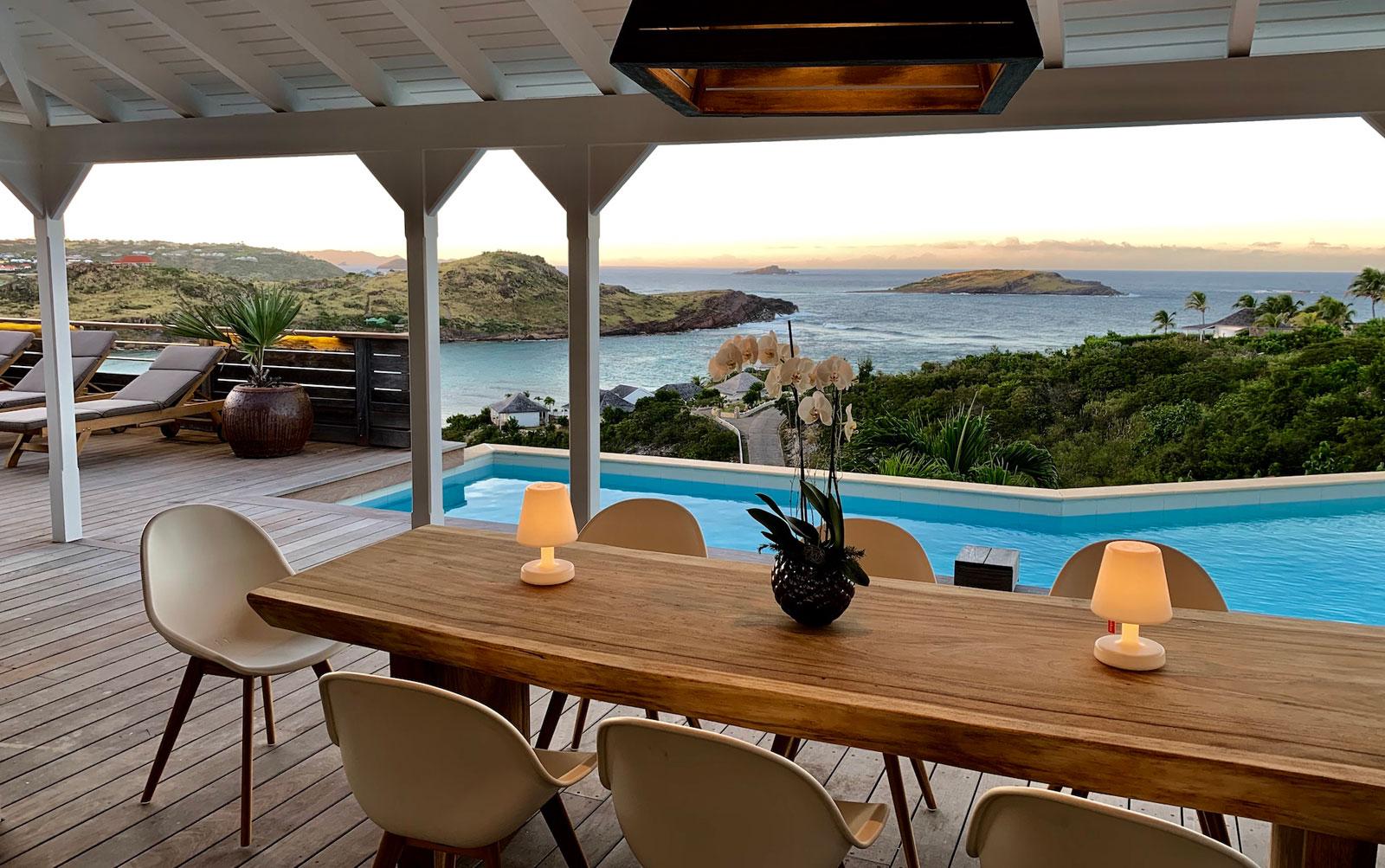 Villa Lagon Rose - Spacious Villa Rental St Barth Petit Cul De Sac with Beautiful Sea View - Patio and Swimming Pool