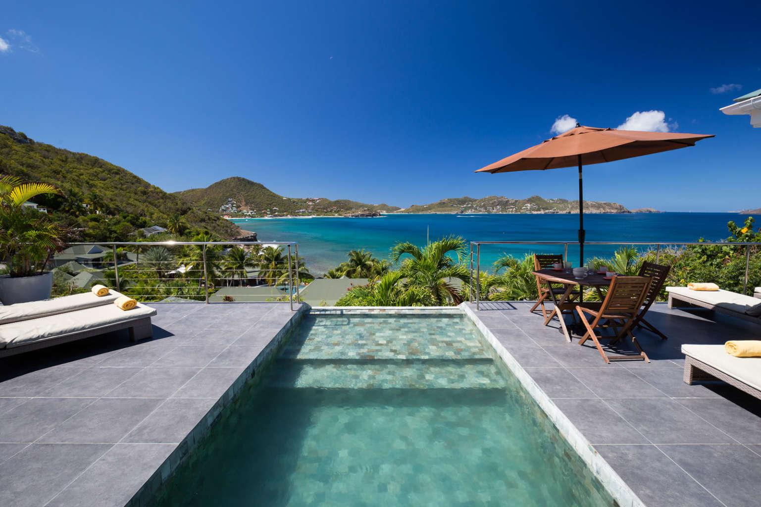 Villa Mirande - 4 Bedroom Villa Rental St Barth Height of Pointe Milou - Swimming Pool