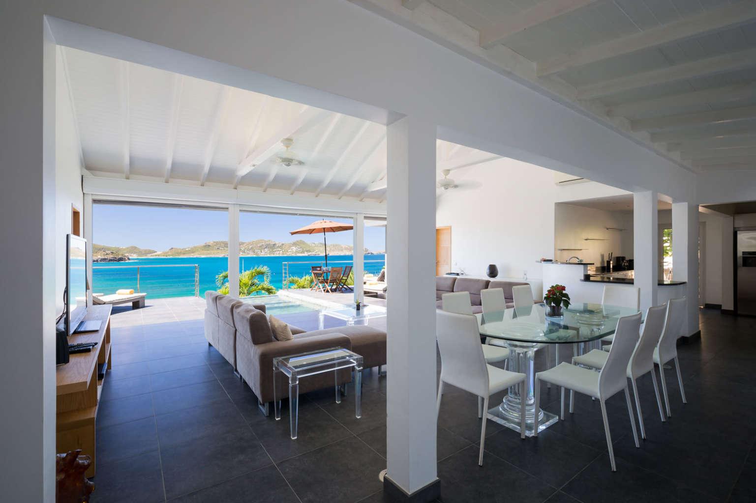 Villa Mirande - 4 Bedroom Villa Rental St Barth Height of Pointe Milou - Patio