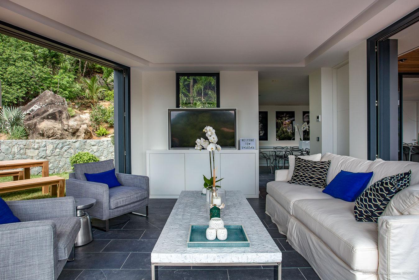 Villa Sasha - Villa for Rent with Heated Pool Corossol - Living room