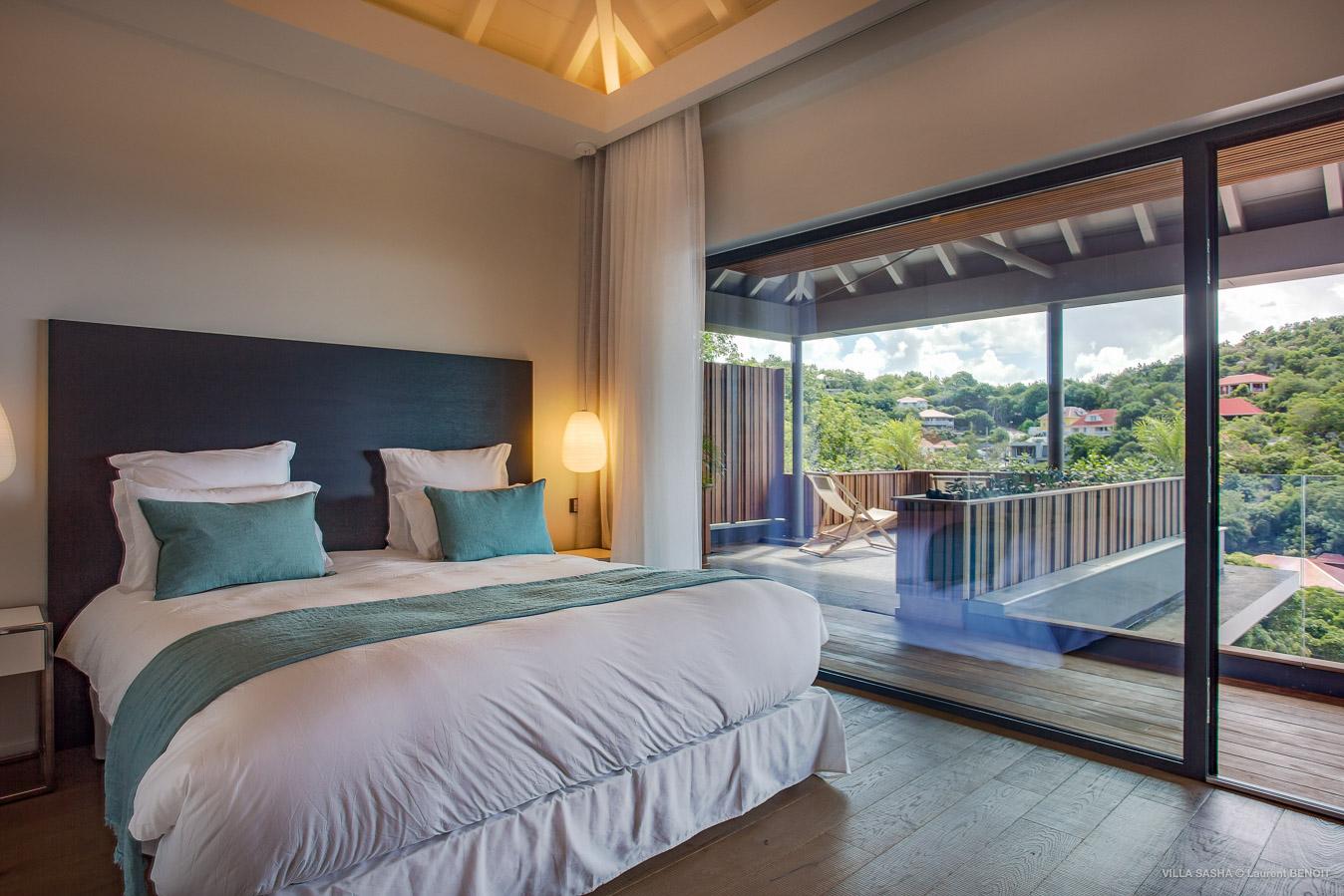 Villa Sasha - Villa for Rent with Heated Pool Corossol - Bedroom
