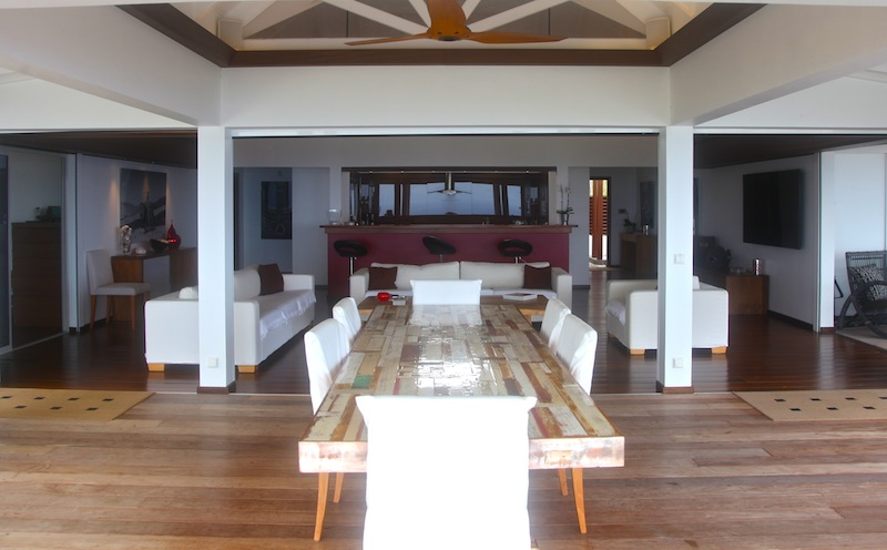 Villa Air du Temps - Sunset Villa For Rent St Barth Close to Gustavia - Main Area