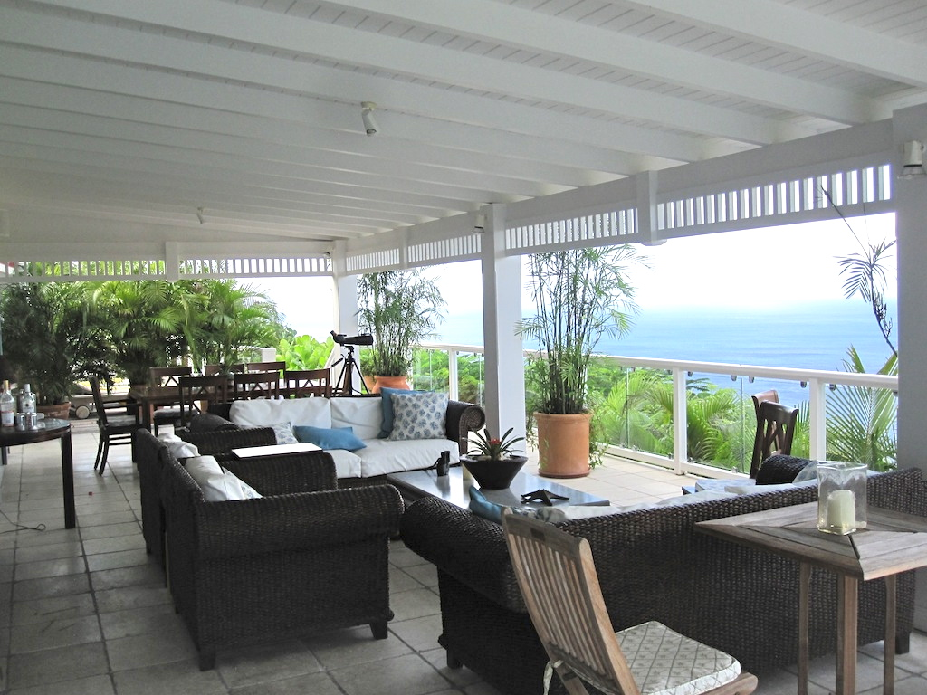Villa Ami - Sunset Villa for Rent St Barth with a BBQ Covered Area Ideal for Friends - Patio