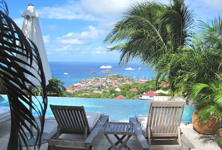 Villa Ami - Sunset Villa for Rent St Barth with a BBQ Covered Area Ideal for Friends - Seaview