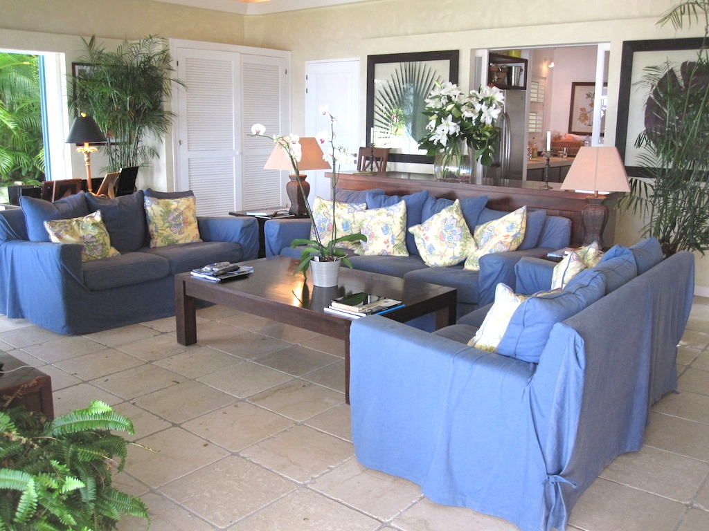 Villa Ami - Sunset Villa for Rent St Barth with a BBQ Covered Area Ideal for Friends - Living Room