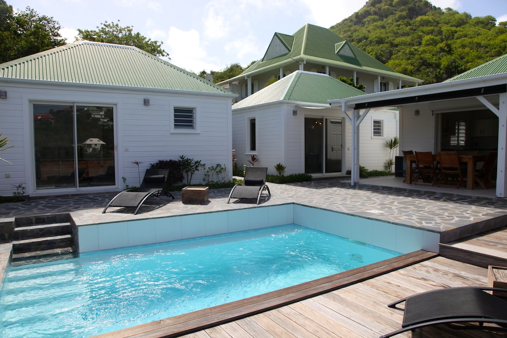 Villa Apsara - 2 Bedroom Villa for Rent St Barth Located in the Hillside of Flamands - Outside view