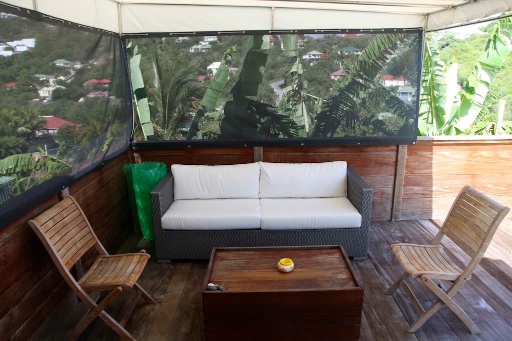 Villa Apsara - 2 Bedroom Villa for Rent St Barth Located in the Hillside of Flamands - Patio