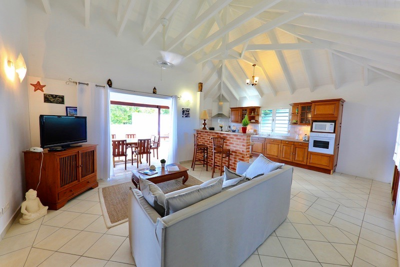 Villa Aquamarine - Sunset Villa for Rent St Barth with Two Cars Parking - Main area