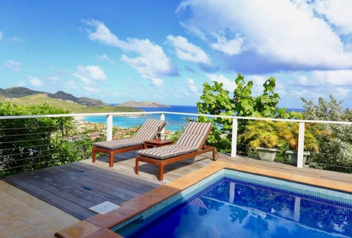 Villa Aquamarine - Sunset Villa for Rent St Barth with Two Cars Parking - Seaview