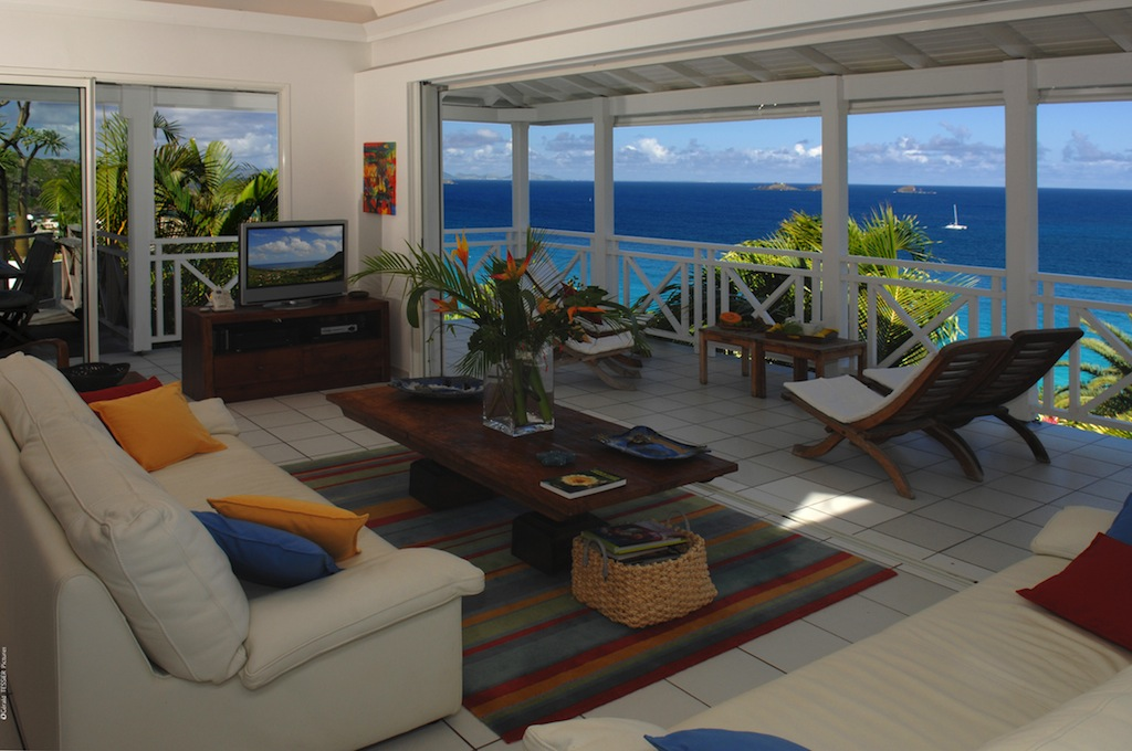 Villa Aventura - 4 Bedroom Villa for Rent St Barth with Jacuzzi and Pool - Living room