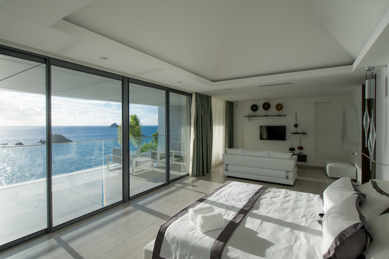 Villa Axel Rock - Ultra Modern Villa Rental St Barth with All the Comforts of a Luxury Villa - Bedroom