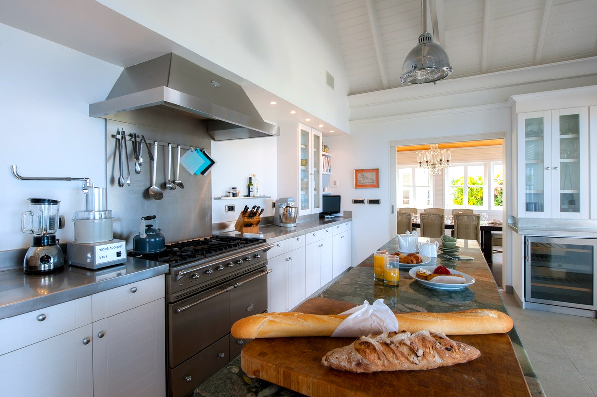 Villa Belle Bague - Hillside Villa for Rent Perfect for Family Holiday in St Barth - Kitchen