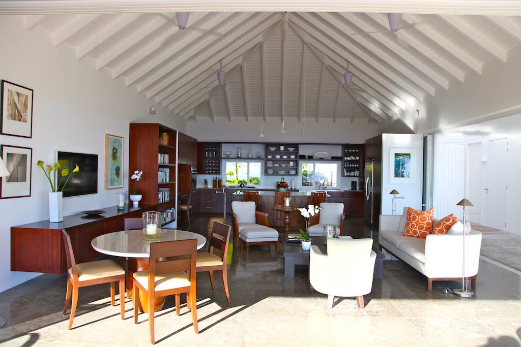 Villa Bellissima - Elegant and Chic Villa Rental St Barth Ideal for a Group of Friends - Main area