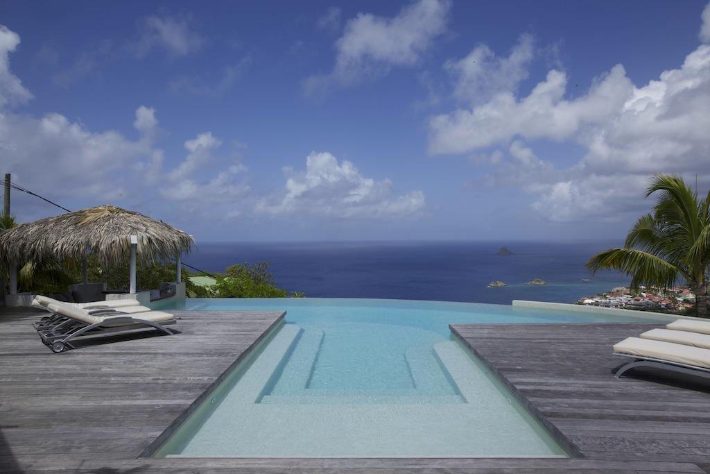 Villa Blue Swan - 4 Bedroom Villa for Rent St Barth Close to Gustavia - Sea view