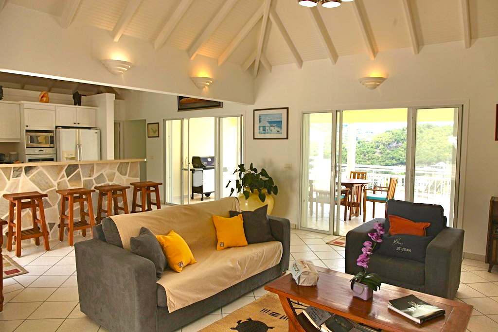 Villa Bonjour - Holiday Villa for Rent with Full Air Conditioning St Barth - Living room